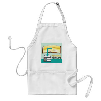 Download Golden Ebook Vector Icon Illustration Adult Apron