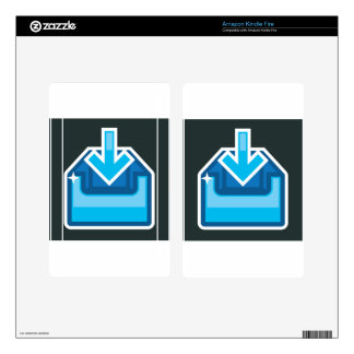 Download Icon Box Vector with an arrow Kindle Fire Decals