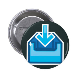 Download Icon Box Vector with an arrow Pinback Button