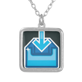 Download Icon Box Vector with an arrow Silver Plated Necklace