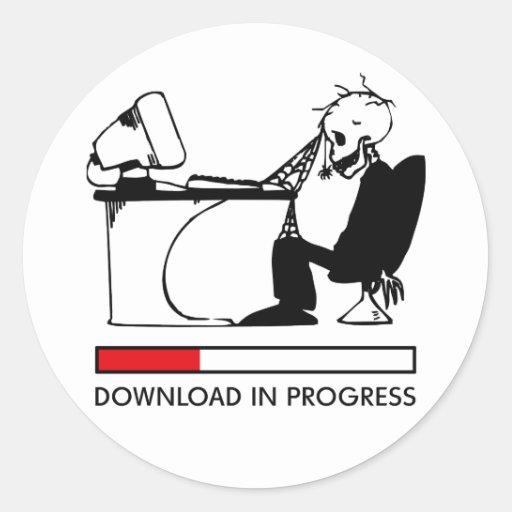 Download in Progress Sticker
