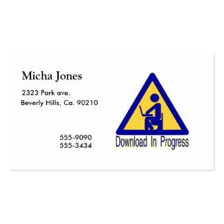 Download In Progress Toilet Humor Business Cards