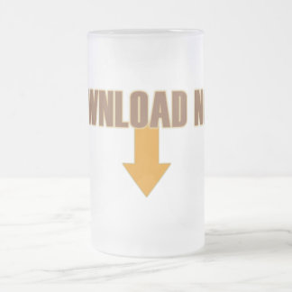 Download Now 16 Oz Frosted Glass Beer Mug
