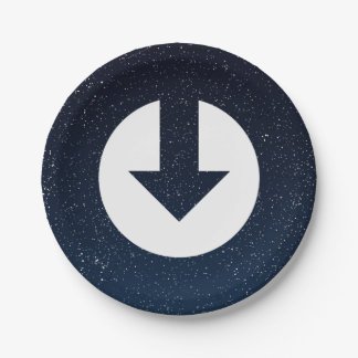 Download Speeds Icon 7 Inch Paper Plate