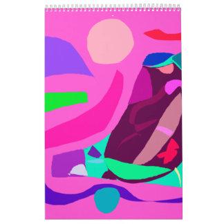 Download Sun Excessive Pink Eggplant Water Calendar