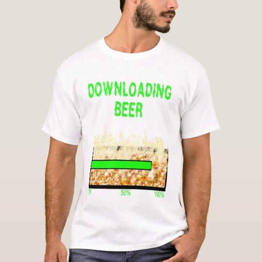Downloading beer drinking alcohol drinker spirits T-Shirt