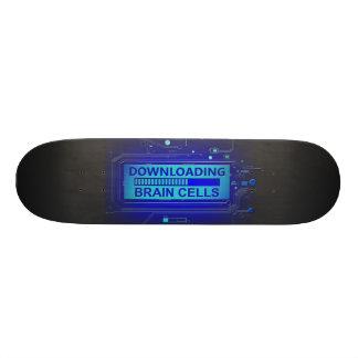 Downloading brain cells. skateboard