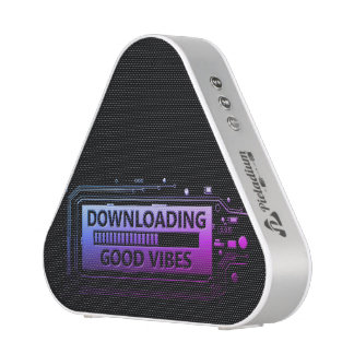 Downloading good vibes. bluetooth speaker