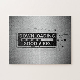 Downloading good vibes. jigsaw puzzle