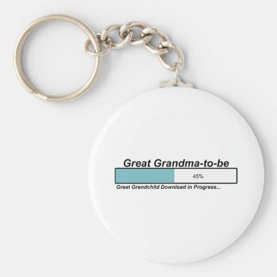 Downloading Great Grandma to Be Keychain