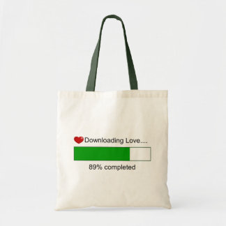 Downloading Love Tote Bag
