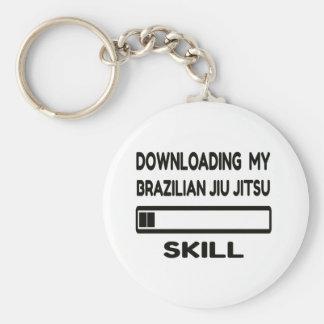 Downloading my Brazilian Jiu Jitsu skill Basic Round Button Keychain
