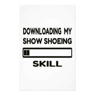 Downloading my Snow Shoeing skill Stationery