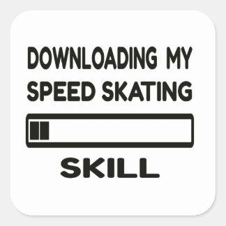 Downloading my Speed Skating skill Square Sticker