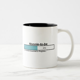 Downloading Nonnie to Be Two-Tone Coffee Mug