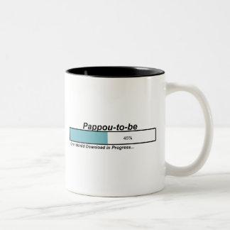 Downloading Pappou to Be Two-Tone Coffee Mug