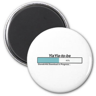Downloading YiaYia to Be 2 Inch Round Magnet