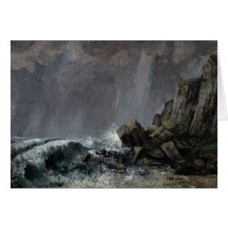 Downpour at Etretat Card