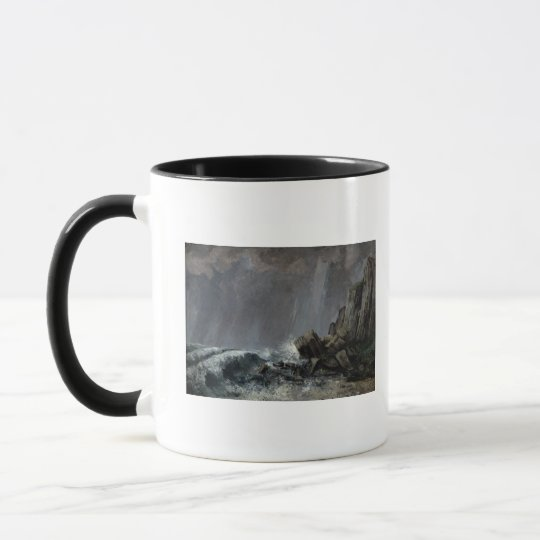 Downpour at Etretat Mug
