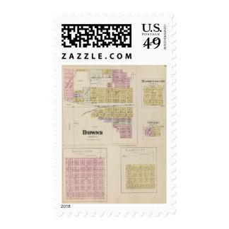 Downs, Bloomington, Covert, Appleton, Kansas Postage