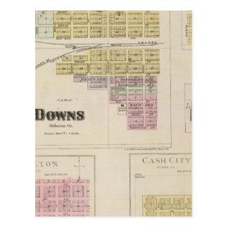 Downs, Bloomington, Covert, Appleton, Kansas Postcard