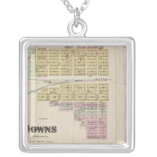 Downs, Bloomington, Covert, Appleton, Kansas Silver Plated Necklace