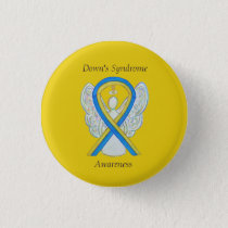 Down's Syndrome Angel Awareness Ribbon Custom Pins