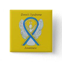 Down's Syndrome Angel Awareness Ribbon Custom Pins