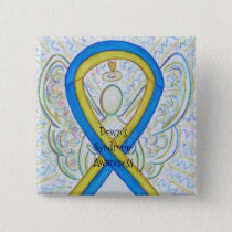 Down's Syndrome Angel Awareness Ribbon Pins