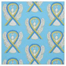 Down's Syndrome Awareness Ribbon Custom Material Fabric