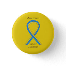 Down's Syndrome Awareness Ribbon Custom Pins