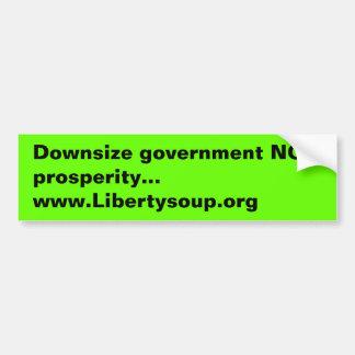 Downsize government bumper sticker