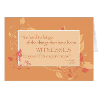 Downsizing Support Life's Witnesses Stationery Note Card