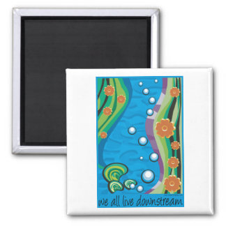 Downstream 2 Inch Square Magnet