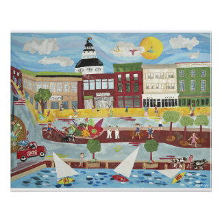 Downtown Annapolis in the Summer Poster