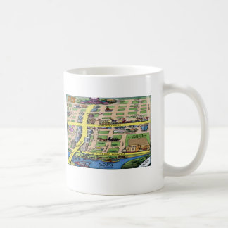 Downtown Austin Texas Cartoon Map Coffee Mug