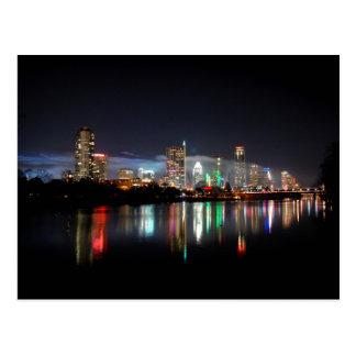 Downtown Austin Texas Night Skyline 2 Postcard