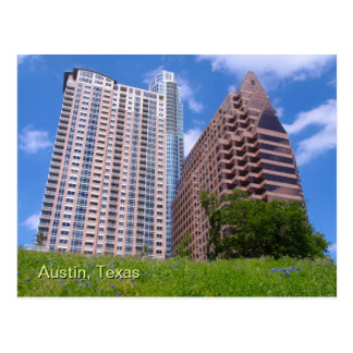 Downtown Austin with Bluebonnets Post Cards