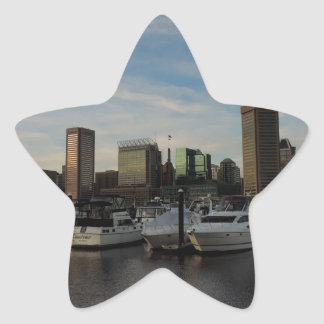 Downtown Baltimore at Sunset Stickers