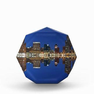 Downtown Baltimore Maryland Dusk Skyline Reflectio Award