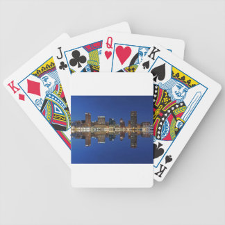 Downtown Baltimore Maryland Dusk Skyline Reflectio Bicycle Playing Cards