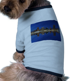 Downtown Baltimore Maryland Dusk Skyline Reflectio Doggie Tee Shirt