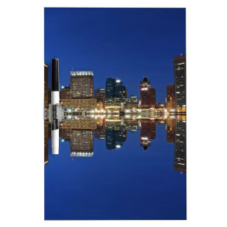 Downtown Baltimore Maryland Dusk Skyline Reflectio Dry Erase Board