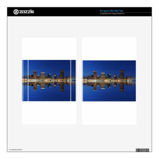 Downtown Baltimore Maryland Dusk Skyline Reflectio Skin For Kindle Fire