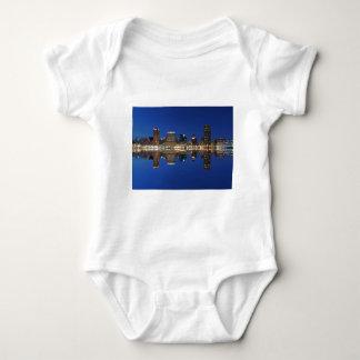 Downtown Baltimore Maryland Dusk Skyline Reflectio T Shirt