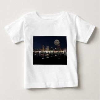 Downtown Baltimore Maryland Night Skyline Moon Tshirts