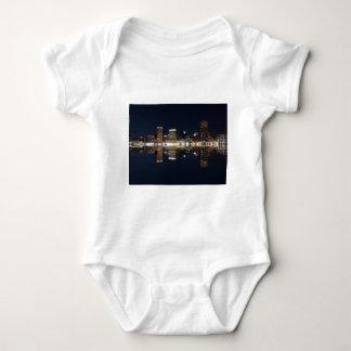 Downtown Baltimore Maryland Night Skyline Reflecti Shirt