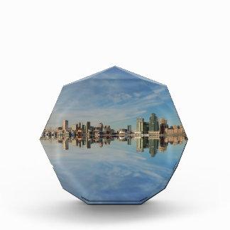 Downtown Baltimore Maryland Skyline Reflection Acrylic Award