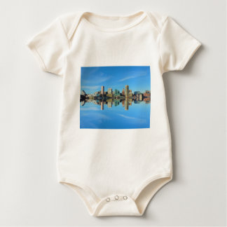 Downtown Baltimore Maryland Skyline Reflection Baby Creeper