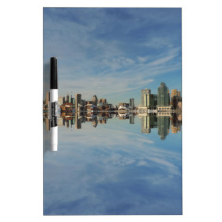 Downtown Baltimore Maryland Skyline Reflection Dry-Erase Board